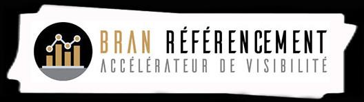 Consultant SEO Rennes | Logo fond noir | Bran Référencement